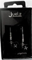 Juelz glass crystal flower drop earrings (Code 3288)